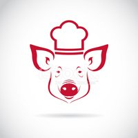 Pig,Food,Chef,Sign,Meat,Gou...