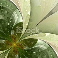 Beautiful fractal flower. Variations on the green.