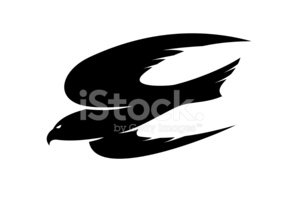 Hawk - Bird,Mascot,Silhouet...