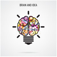 Human Brain,Light Bulb,Tec...