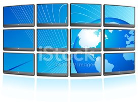 Video Wall,Television Set,T...