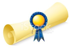 Rolled Up,Certificate,Award...
