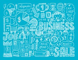 Finance,Doodle,Vector,Drawi...