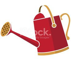 Red,Watering Can,Symbol,Gar...