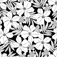 white flower,Hawaiian Print...