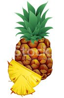 Pineapple,Slice,Ripe,Close-...