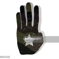camouflage military hand