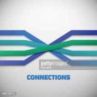 Internet People Connection Lines vector background