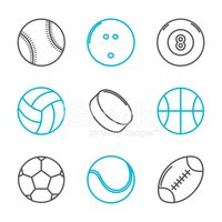 Rugby,Icon Set,Symbol,Socce...