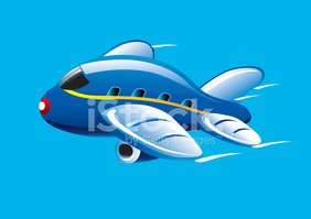 Airplane,Cartoon,Vector,Blu...