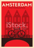 Typographic Amsterdam City Poster Design