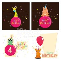 Birthday,Animal,Cute,Ilustrat…