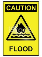 Flood hazard Sign