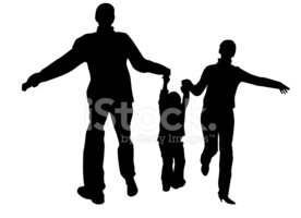 Family,Silhouette,Parent,Ch...