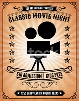 Movie night invitation on royalty free vector background stock movie night invitation on royalty free vector background stopboris Image collections