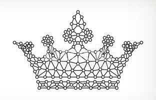 Queen,Crown,Black And White...