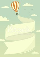Hot Air Balloon,Banner,Plac...