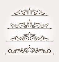 Set of four floral design elements and page decoration