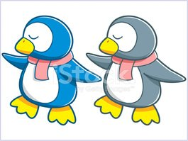 Penguin,Cartoon,Cute,Vector...