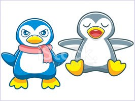 Penguin,Cartoon,Cute,Bird,M...