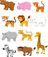 Animal,Zoo,Cartoon,Tiger,Co...