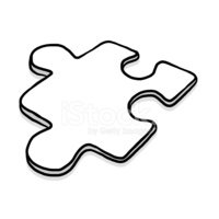 Puzzle,Black And White,Outl...
