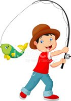 Little Boys,Fishing,Child,C...
