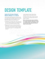 Design template with sample text layout