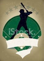 Silhouette,Baseball Diamond...