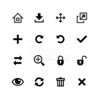 Web icons collection. Toolbar, edit and customize