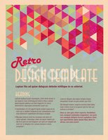 Retro Presentation template with sample text layout