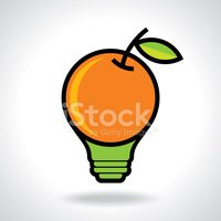 Orange - Fruit,Light Bulb,C...