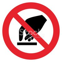 Prohibition sign DO NOT TOUCH