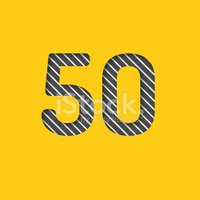 Number 50,Number,Yellow,Vec...