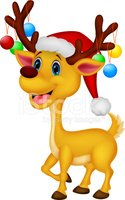 Reindeer,Cartoon,Cute,Wint...