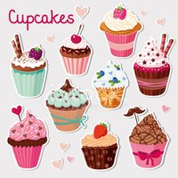 Backgrounds,Cupcake,Cartoon...