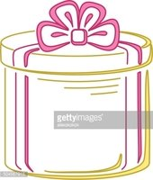 Cut Out,Ribbon,Container,Gi...