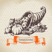 Cornucopia,Thanksgiving,Pum...