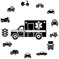 Ambulance,Black And White,F...