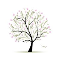 Tree,Outline,Love,Branch,Ab...