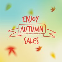 Autumn,Sale,Text,Falling,Bl...