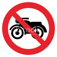 Motorcycle prohibition sign