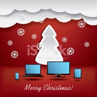 Christmas card concept vector illustration suitable for advertis