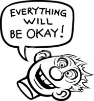 whiteboard drawing - cartoon motivation sticker - everything wil