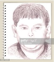 Young Boy Drawing on Art & Sketching Scrapbook Design