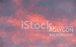 Polygonal illustration of abstract sky