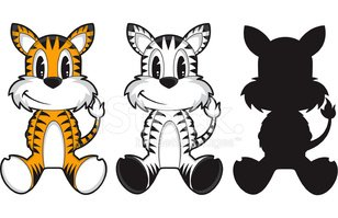 Tiger,White Tiger,Cartoon,C...