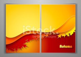 Flyer,Autumn,Frame,Gold Col...