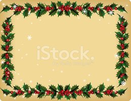 Christmas,Frame,Holly,Garla...