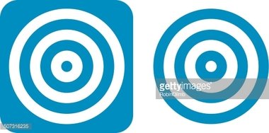 Blue Target Icons Stock Vectors Clipartme